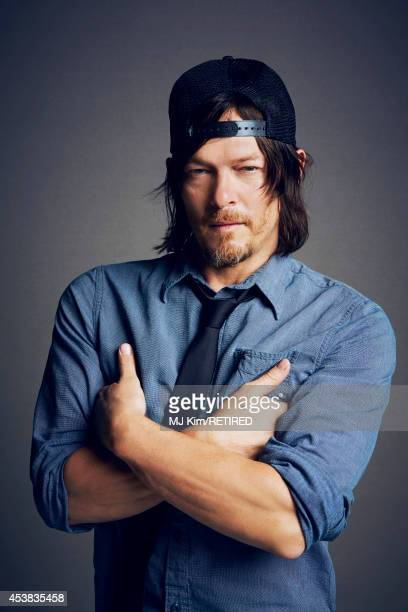 Norman Reedus poses for a portrait at the Getty Images Portrait Studio powered by Samsung Galaxy at ComicCon International 2014 on July 24 2014 in...