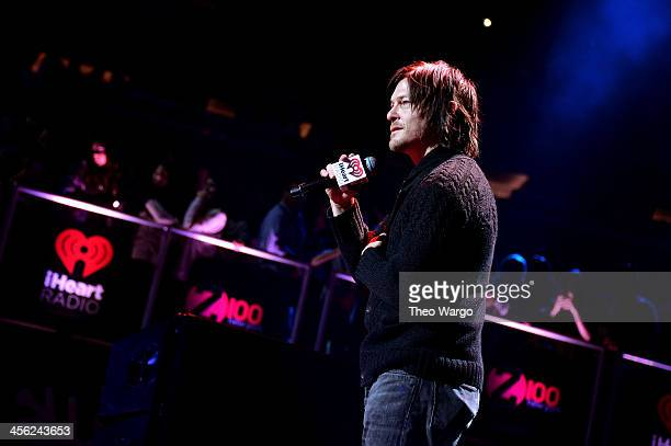 Norman Reedus speaks onstage during Z100's Jingle Ball 2013 presented by Aeropostale at Madison Square Garden on December 13 2013 in New York City