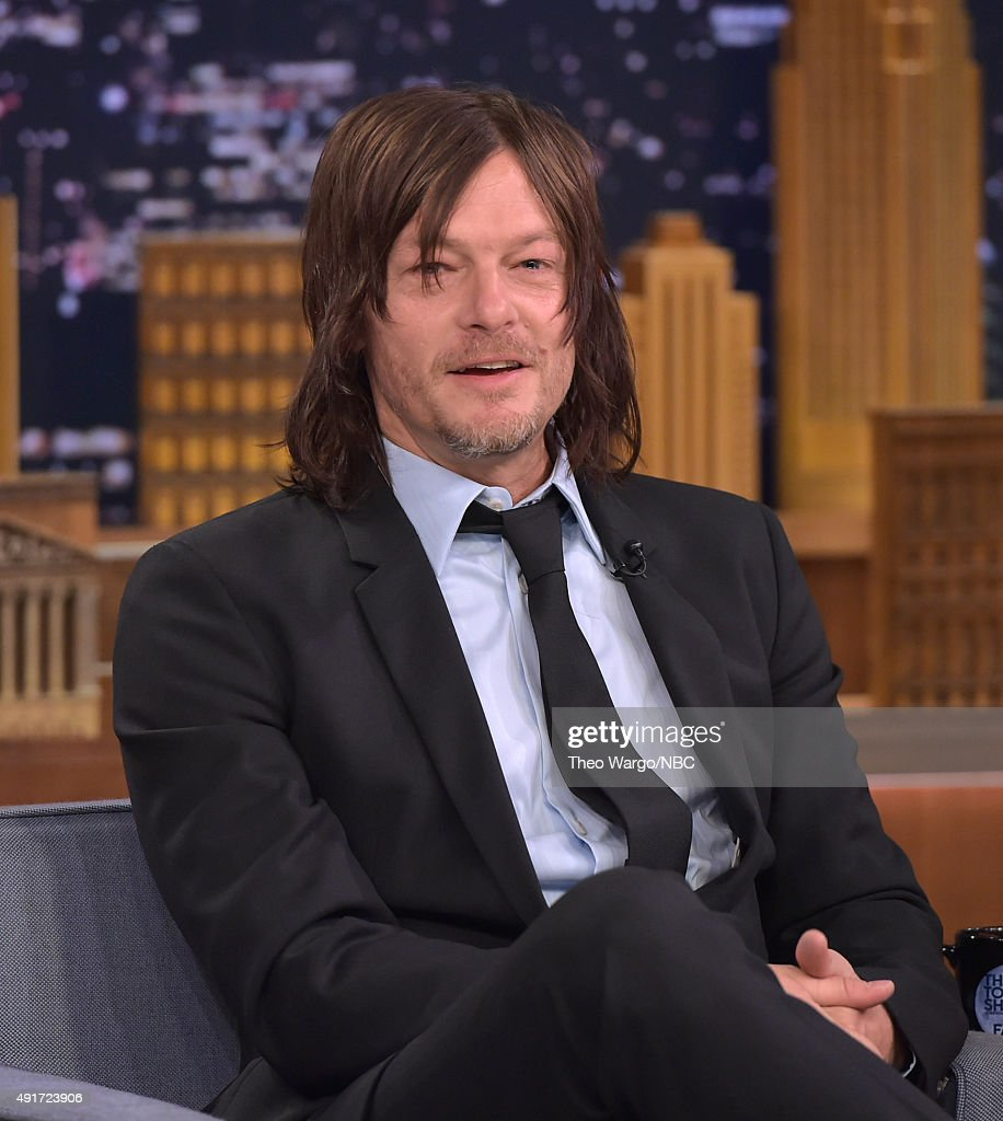 Norman Reedus Visits 'The Tonight Show Starring Jimmy Fallon' at Rockefeller Center on October 7, 2015 in New York City.