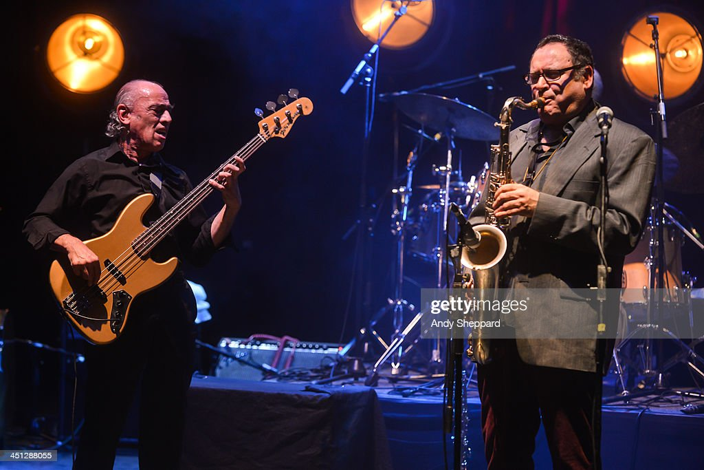 Norman Watt-Roy and Gilad Atzmon perform on stage at Queen Elizabeth Hall during day 7 of London Jazz Festival 2013 on November 21, 2013 in London, United Kingdom.