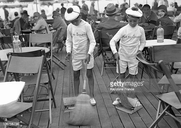 Normandy Deauville Beach Little Grooms Of The Bar Du Soleil In Action In 1929