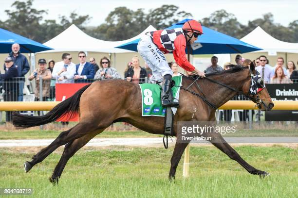 Normandy Lad ridden by Declan Bates wins the McConnell Dowell Martinus Rail BM52 Handicap at Avoca Racecourse on October 21 2017 in Avoca Australia
