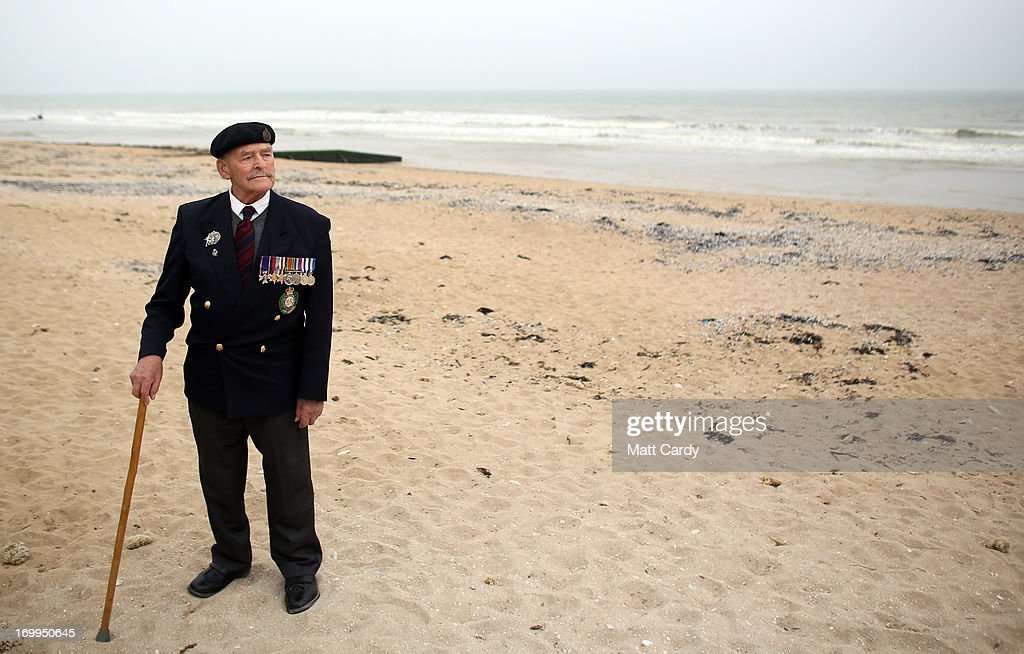 Normandy veteran Major Edwin Hunt stands on what was the British Sword beach at Colleville Montgomery on June 5, 2013 near Caen, France. Across Normandy several hundred of the surviving veterans of the Normandy campaign are gathering to commemorate the 69th anniversary of the D-Day landings which eventually led to the Allied liberation of France in 1944. Next year, which will mark the 70th anniversary of the landings, is widely expected to be the last time that the veterans will gather in any great number.