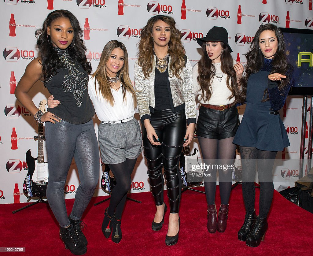 Normani Hamilton, Ally Brooke, Dinah Jane Hansen, Lauren Jauregui, and Camila Cabello of Fifth Harmony attend the Z100 & Coca-Cola All Access Lounge at Hammerstein Ballroom on December 13, 2013 in New York City.