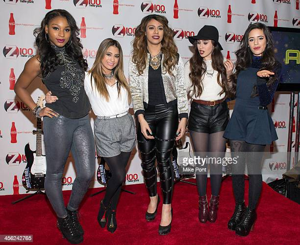 Normani Hamilton Ally Brooke Dinah Jane Hansen Lauren Jauregui and Camila Cabello of Fifth Harmony attend the Z100 CocaCola All Access Lounge at...