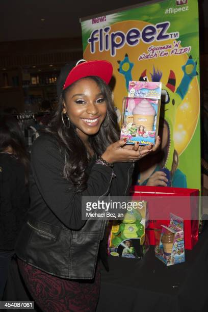 Normani Hamilton attends the Jingle Ball Backstage Gifting Suite sponsored by Flips Audio at Staples Center on December 6 2013 in Los Angeles...
