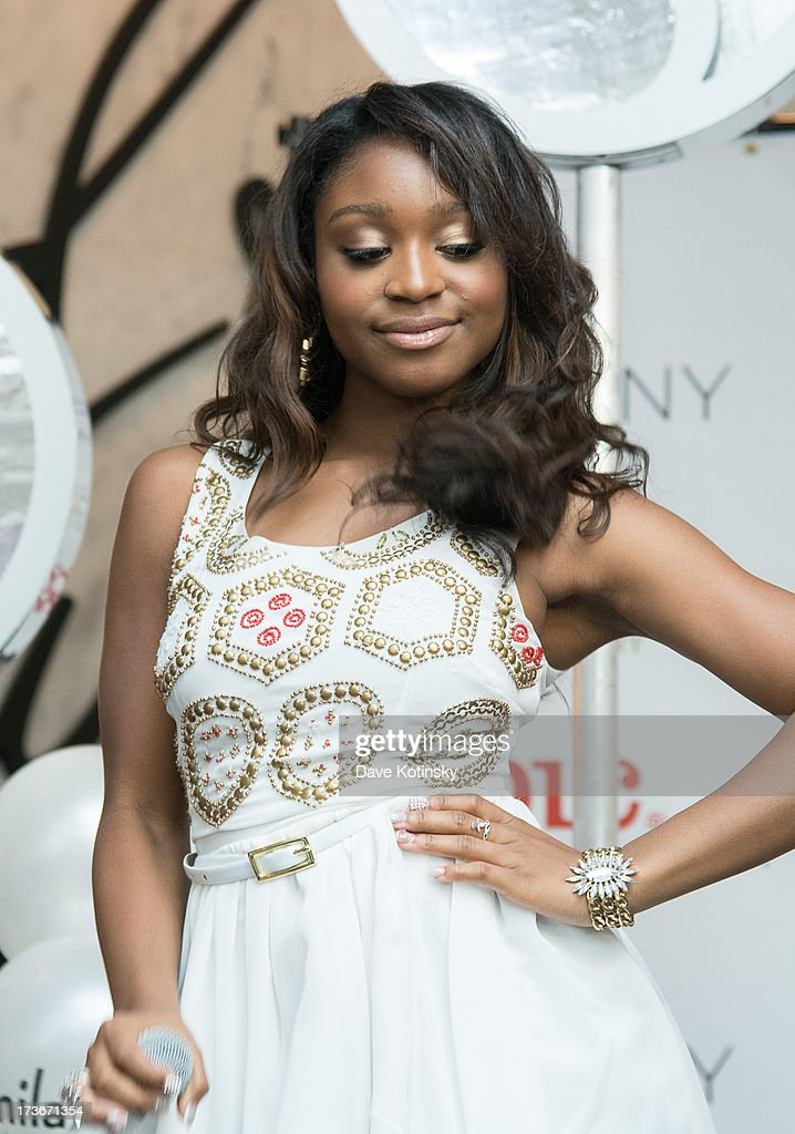 Normani Hamilton of Fifth Harmony performs at Garden State Plaza on July 16, 2013 in Paramus, New Jersey.