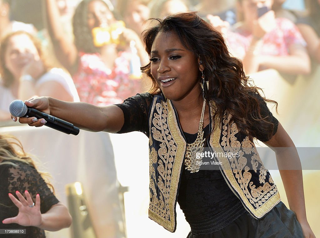 Normani Hamilton of Fifth Harmony performs at NBC's TODAY Show on July 18, 2013 in New York City.