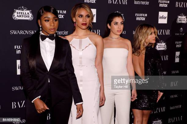 Normani Kordei Dinah Jane Lauren Jauregui and Aly Brooke attend the 2017 Harper ICONS party at The Plaza Hotel on September 8 2017 in New York City