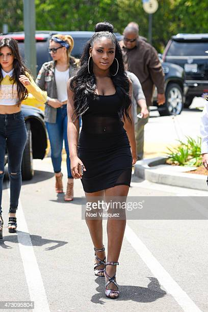 Normani Kordei of Fifth Harmony visits 'Extra' at Universal Studios Hollywood on May 12 2015 in Universal City California