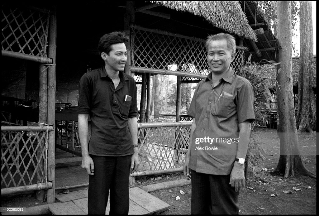 Norodom Sihamoni (King of Cambodia since 29 October 2004), seen with Khmer Rouge leader, <a gi-track='captionPersonalityLinkClicked' href=/galleries/search?phrase=Khieu+Samphan&family=editorial&specificpeople=769531 ng-click='$event.stopPropagation()'>Khieu Samphan</a>, in the Cardamom Mountains of Cambodia, 12th February 1981. (Photo by Alex Bowie/Getty Images) Sihamoni and royal family members were prisoners of the Khmer Rouge from early 1976 until January 1978.