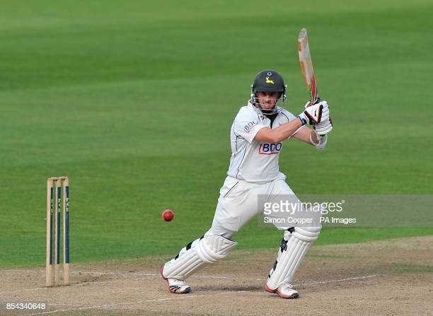 Norringhamshire's Steven Mullaney bats during the LV= County Championship Division One match at Trent Bridge Nottingham