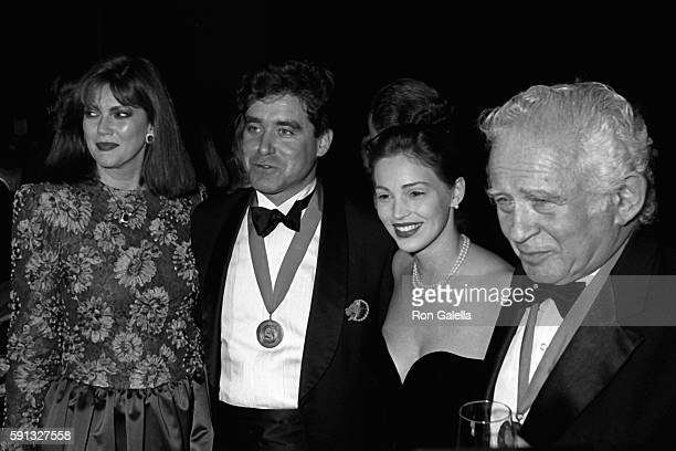 Norris Church Mailer Jay McInerney Marla Hanson and Norman Mailer attend A Decade of Literary Lions Benefit Gala on November 8 1990 at the New York...