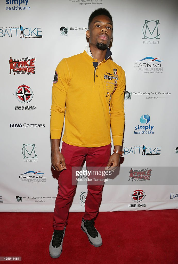 Norris Cole arrives at South Beach Battioke 2014 at Fillmore Miami Beach on January 27, 2014 in Miami Beach, Florida.