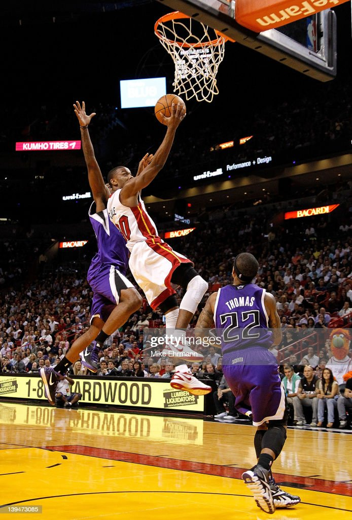 <a gi-track='captionPersonalityLinkClicked' href=/galleries/search?phrase=Norris+Cole&family=editorial&specificpeople=5770147 ng-click='$event.stopPropagation()'>Norris Cole</a> #30 of the Miami Heat drives to the basket during a game against the Sacramento Kings at American Airlines Arena on February 21, 2012 in Miami, Florida.