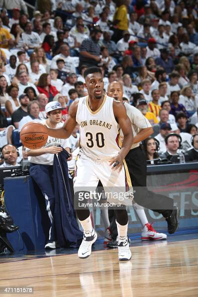 Norris Cole of the New Orleans Pelicans drives to the basket against the Golden State Warriors during Game Four of the Western Conference...