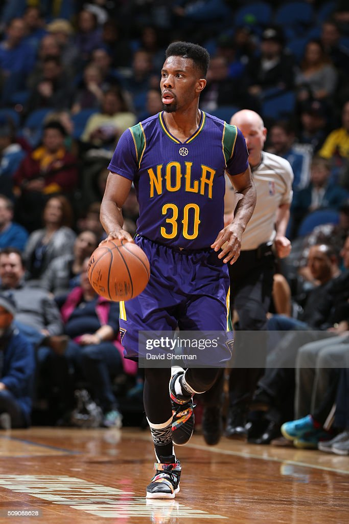 <a gi-track='captionPersonalityLinkClicked' href=/galleries/search?phrase=Norris+Cole&family=editorial&specificpeople=5770147 ng-click='$event.stopPropagation()'>Norris Cole</a> #30 of the New Orleans Pelicans drives to the basket against the Minnesota Timberwolves during the game on February 8, 2016 at Target Center in Minneapolis, Minnesota.