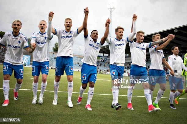 Norrkoping after the Allsvenskan match between IFK Norrkoping and IFK Goteborg on June 4 2017 at Ostgotaporten in Norrkoping Sweden