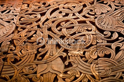 Norse wooden carving stock photo thinkstock