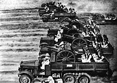 North Africa Second World War Italian motorized colonial unit in Libya