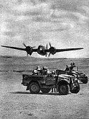 North Africa Second World War North African Campaign British patrol in the desert