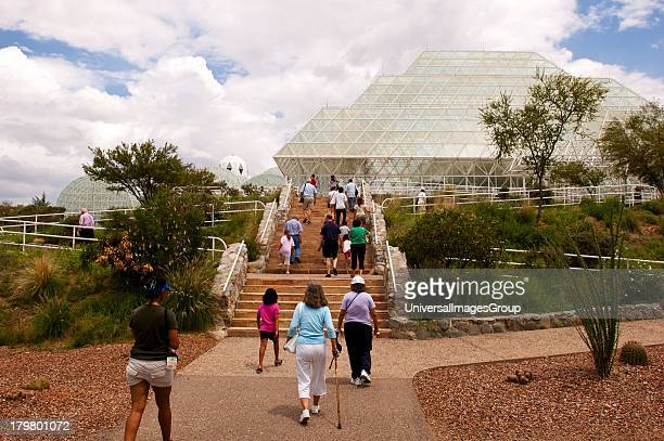 North America Arizona Oracle Biosphere 2 Rainforest and Habitat from South