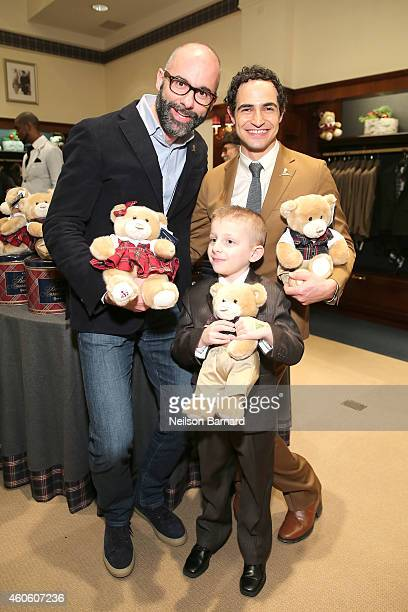 North America President of Brooks Brothers Andrea Dorigo and designer Zac Posen attend as BROOKS BROTHERS Celebrates The Holidays With St Jude...