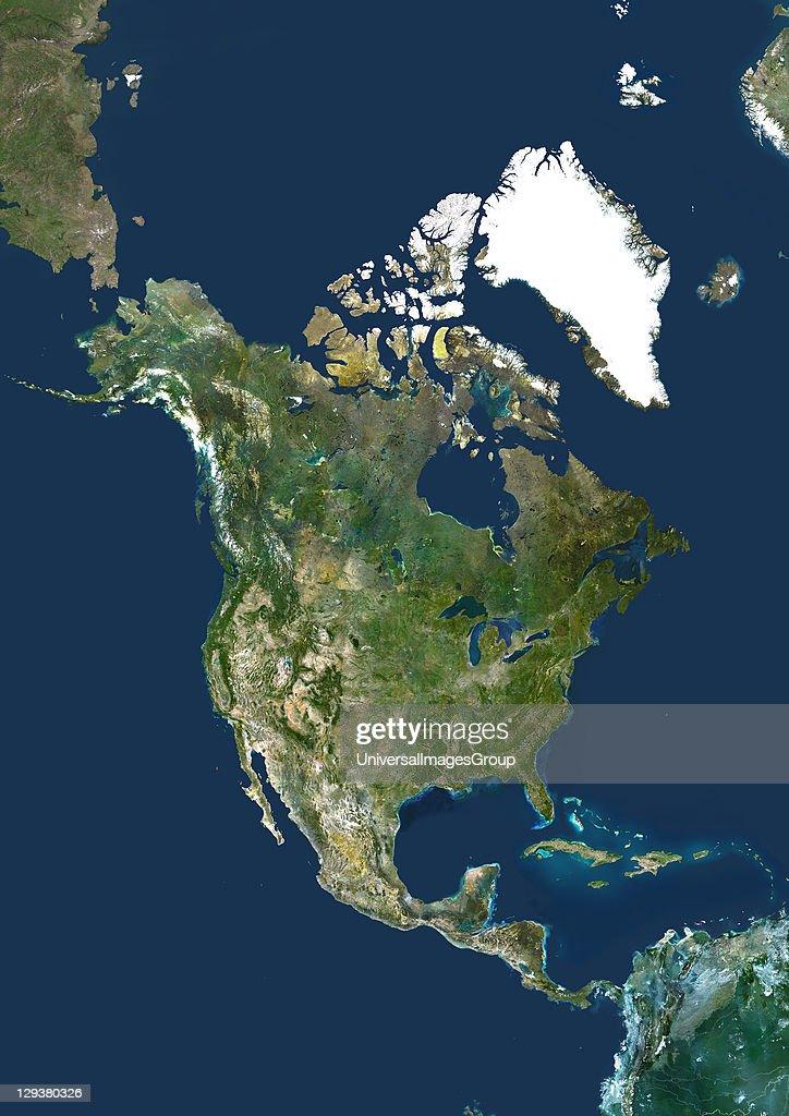North America True Colour Satellite Image Pictures Getty Images - North america satellite image