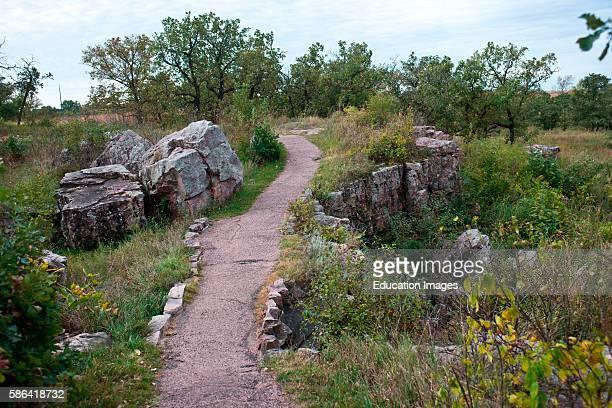North America USA Minnesota Pipestone Pipestone National Monument Circle Trail