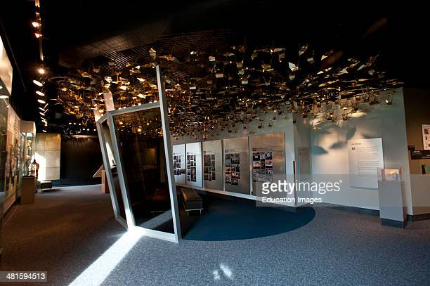 North America USA Oklahoma Oklahoma City Murrah Federal Building Memorial and Memorial Museum Origami Cranes show Hope
