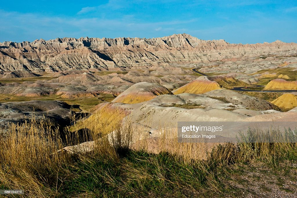 North America USA South Dakota Wall Badlands National Park Loop Road Conata Basin Overlook