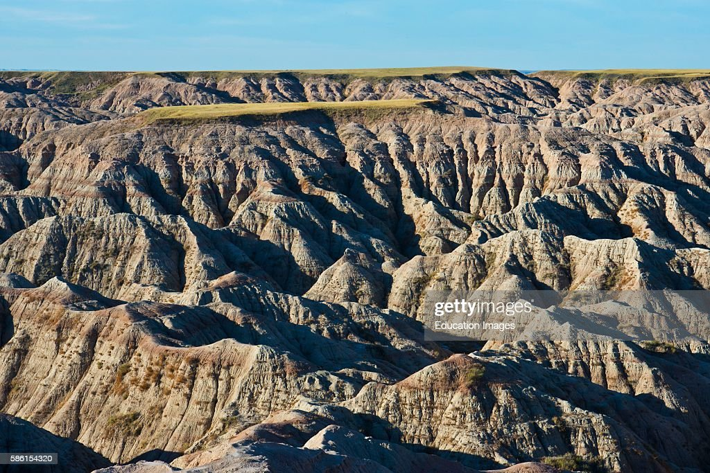 North America USA South Dakota Wall Badlands National Park Loop Road Burns Basin Overlook