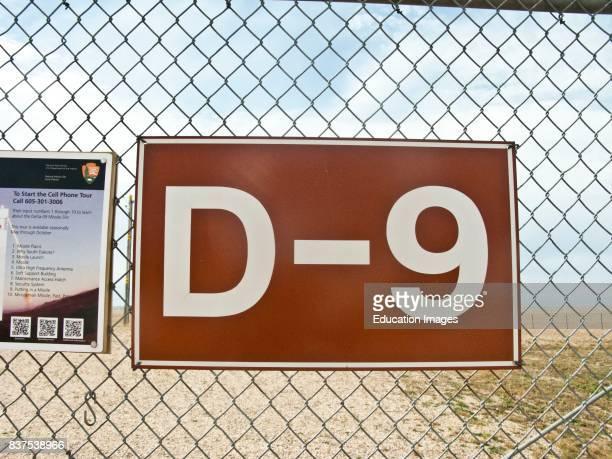 North America USA South Dakota Wall Delta09 Minuteman II ICBM Launch Facility Site identification Sign