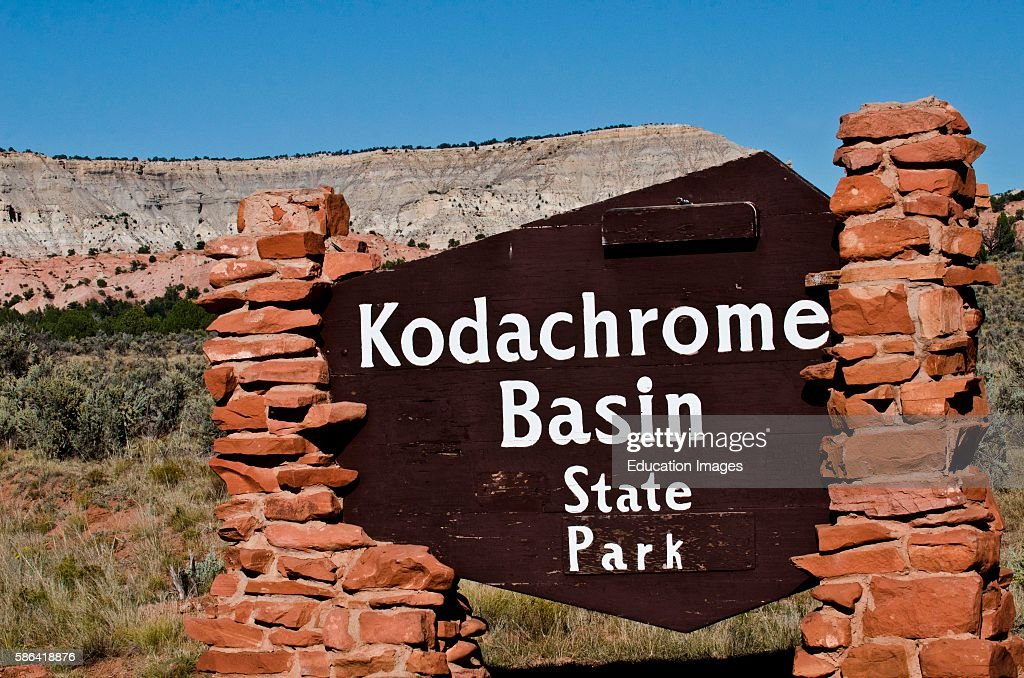 North America USA Utah Kodachrome Basin State Park Entrance Sign