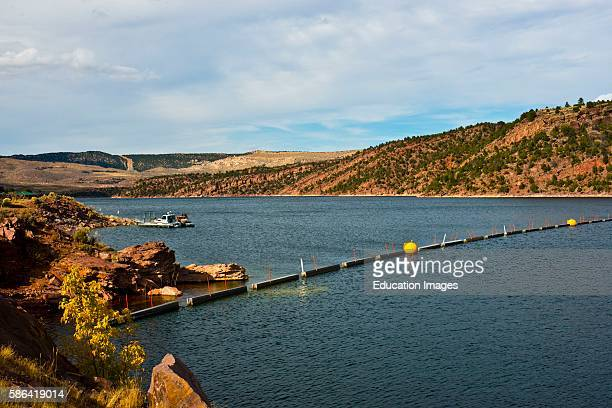North America USA Utah Scenic Vistas along US HWY 191 Flaming Gorge National Recreation Area and Reservoir