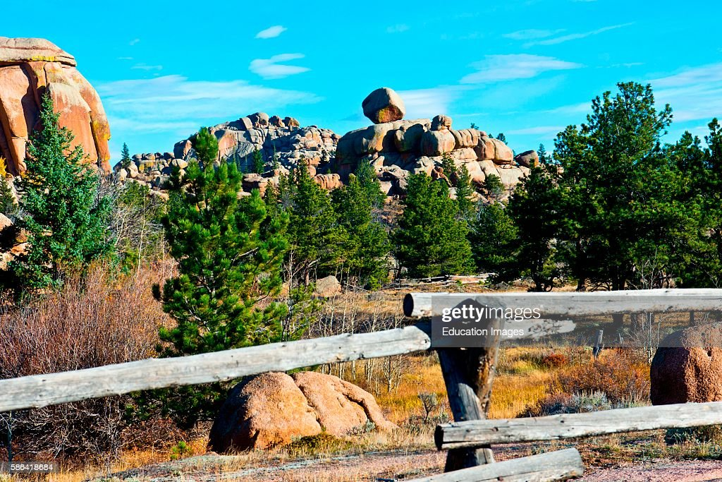 North America USA Wyoming Buford Vedauvoo Recreation Area Unique Rock formations of Sherman Granite
