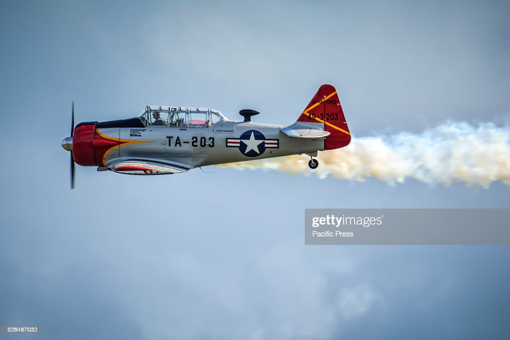 North American Harvard display at the annual 'Wings Over Illawarra' Airshow at the Illawarra Regional Airport.