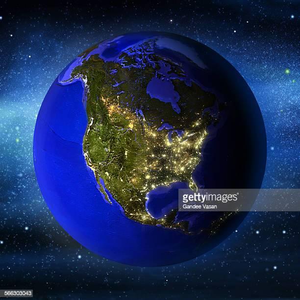North Amrica Illuminated