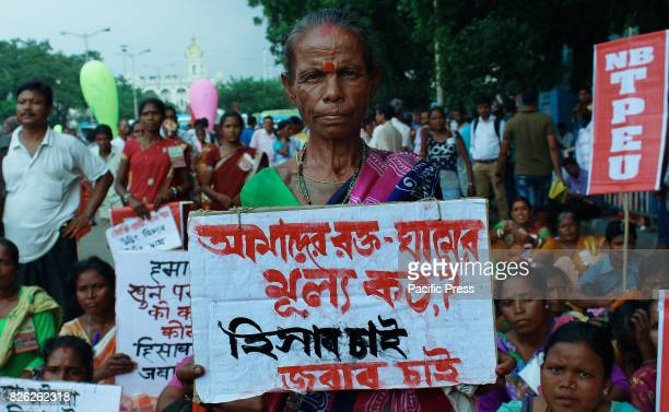 North Bengal tea workers organized a protest rally against State Government of West Bengal and protest demand for minimum wages land food and...