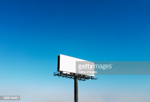 USA, North Carolina, Billboard under blue sky