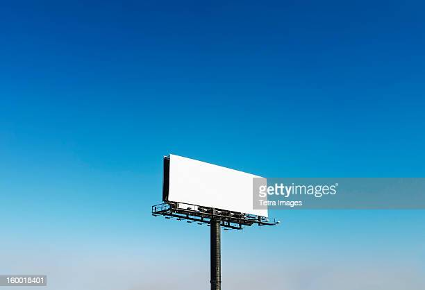 USA, North Carolina, Billboard under blue sky