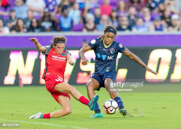 North Carolina Courage forward Jessica McDonald shoots on goal trying to tie the game in the closing minutes during the NWSL soccer Championship...
