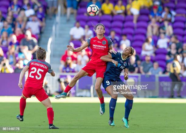 North Carolina Courage forward Lynn Williams challenges for a header during the NWSL soccer Championship match between the North Carolina Courage and...