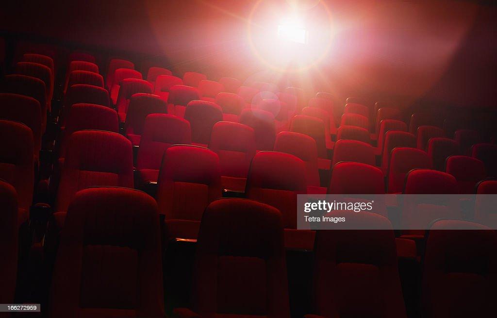 USA, North Carolina, Empty cinema seats