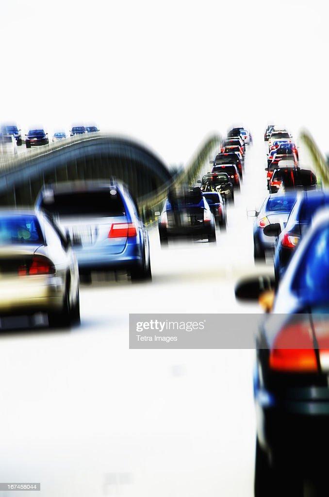 USA, North Carolina, Nags Head, Cars in traffic jam : Stock Photo