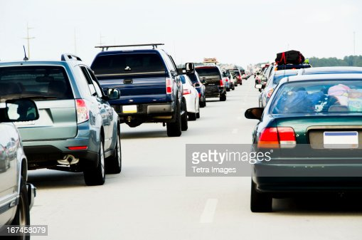USA, North Carolina, Nags Head, Cars in traffic jam
