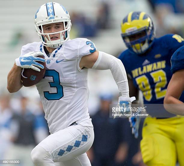 North Carolina's Ryan Switzer races toward the end zone for a 63yard touchdown on a pass from quarterback Mitch Trubisky in the fourth quarter...