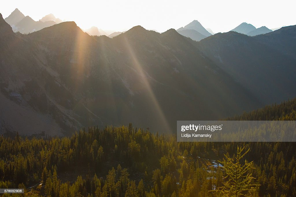 North Cascades Sunbeams