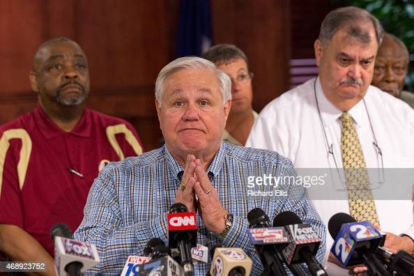 North Charleston Mayor Keith Summey answers questions during a press conference after the shooting death of an unarmed African Amerian man by police...