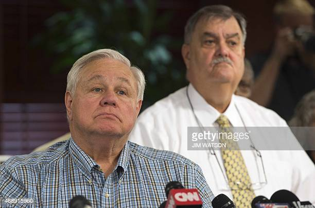 North Charleston Mayor R Keith Summey and Police Chief Eddie Driggers take questions during a press conference at City Hall in Charleston South...